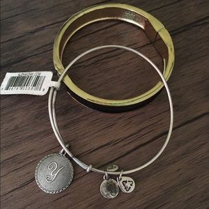 🌼Alex and Ani Y Initial Bangle/Bracelet